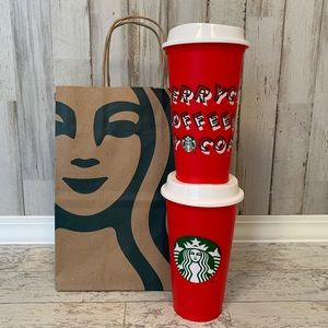 Starbucks Red Reusable Holiday Cups 🌟